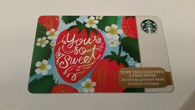 NEW NO VALUE 2015 STRAWBERRIES STRAWBERRY STARBUCKS CARD YOU/'RE SO SWEET