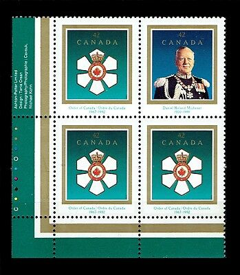 Canada Stamp #1447a - Order of Canada / Roland Michener (1992) 4 x 42¢ MNH