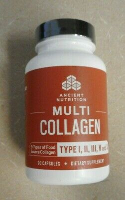 Dr Axe Formula Ancient Nutrition Multi Collagen Type I II III V & X 90 Capsules