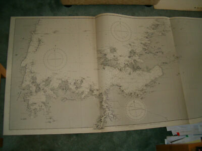 Vintage Admiralty Chart 3665 CENTRAL AFRICA - LAKE VICTORIA 1908 edn