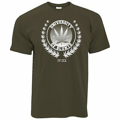 Stoner T Shirt University of Blunts IV:XX 420 Logo Weed Culture Marijuana