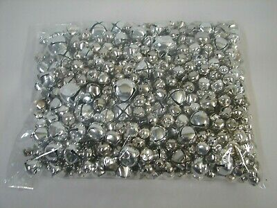 Lot Silver Small Jingle Bells Assorted Sizes 3/8 1/2 3/4 1/4 1 Inch 2 1/2 Pounds