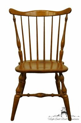 TELL CITY Colonial Style Solid Hard Rock Maple Spindle Back Dining Chair 8112...