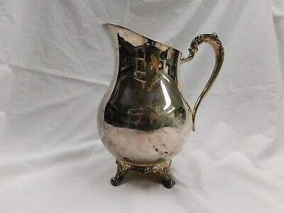 Vintage 1883 Eb Rogers Bros  Silver Plated Footed Water Pitcher