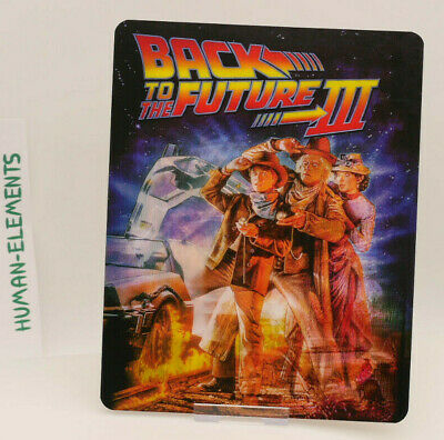 BACK TO THE FUTURE 3 - Lenticular 3D Flip Magnet Cover FOR bluray steelbook