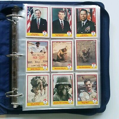 PRO SET Desert Storm Collectible Military  Trading Cards - 550+ Card