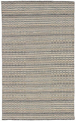 "Hand-knotted Carpet 4'11"" x 7'10"" Luribaft Gabbeh Riz Traditional Wool Kilim"