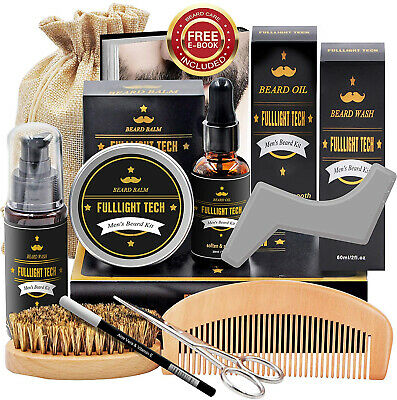 Beard Kit for Men Grooming and Care W Beard Wash Shampoo,Unscented Beard Growth