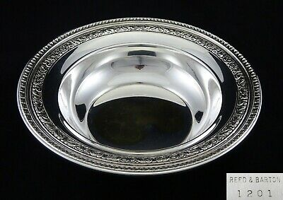 Vintage Reed & Barton Scrolling Embossed Fruit Bowl Sweet Dish Silver Plated