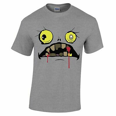 Halloween T Shirt Scary Zombie Ghoul Face Bloody Fanged Monster Haunted