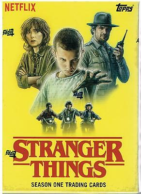 2018 Topps STRANGER THINGS Netflix Series Trading Cards Blaster Box=1-Patch Card