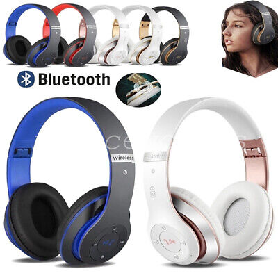 Wireless Headphones Bluetooth Headset Noise Cancelling Over Ear W/ Microphone HT