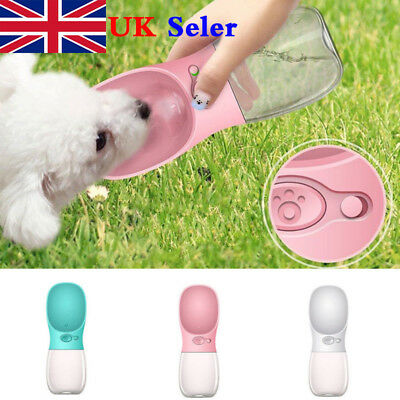 Portable Pet Dog Cat Pet Water Bottle Drinking Cup Outdoor Travel Feeder Tool UK