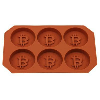 Ice Lattice Mold 3D Bitcoin Tray Cube Whisky Cocktails Fruit Chocolate Mould HO