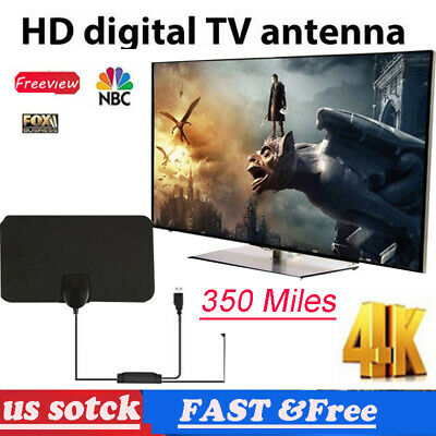 350 Miles TV Digital HD Skywire Indoor Antenna 1080P 4K 16ft Coax Cables 1080P