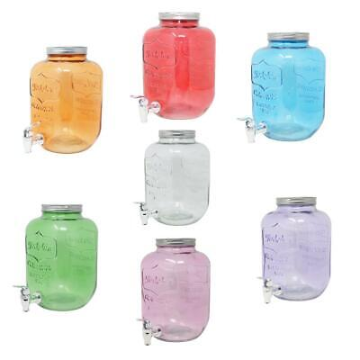 4L 5L 8L Beverage Dispenser Water Cooler Juice Dispenser Carafe Glass Tap Lid