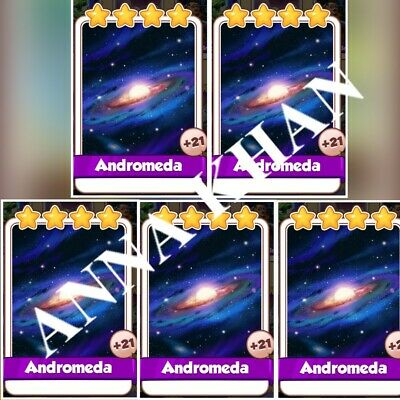 5x Andromeda :- Coin Master Cards ( Fastest Delivery )