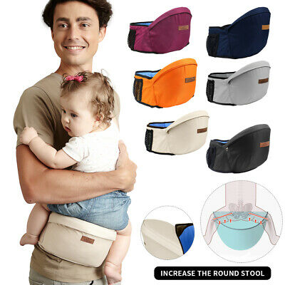Baby Adjustable Waist Belt Hip Seat Chair Strap Front Carrier Single Stool UK