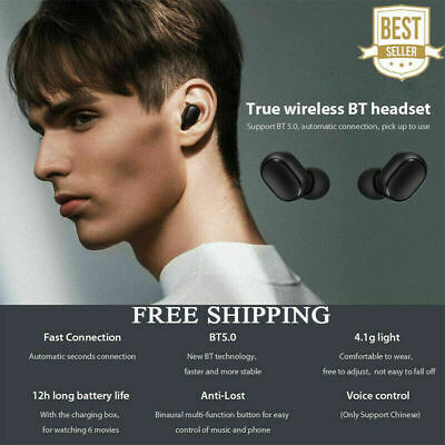 TWS Airdots Headset Bluetooth 5.0 Earphone Headphone Stereo CA NEW Headset  Mic
