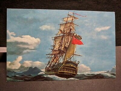 Ship HMS BOUNTY Naval Cover unused Post Card MUTINY on the BOUNTY