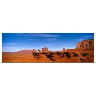 """Poster Print """"Person riding a horse on a landscape, Monument Valley, Arizona"""""""