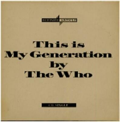 "My Generation Who CD single (CD5 / 5"") UK POCD907 POLYDOR 1988"