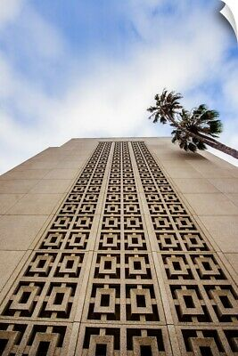 """""""Los Angeles California Temple, Looking up, Los Angeles, California"""" Wall Decal"""