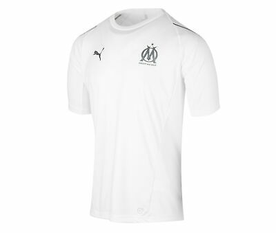 Puma Youth Olympique de Marseille Training Jersey Football Ligue 1 White DryCELL