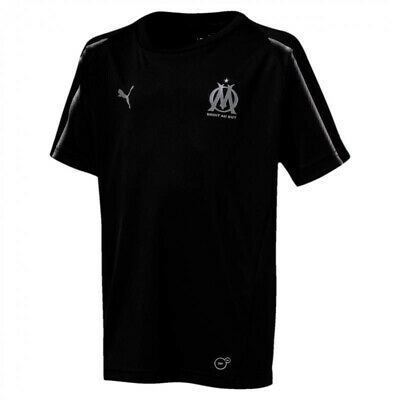 Puma Youth Olympique de Marseille Training Jersey Football Black Ligue 1 DryCELL