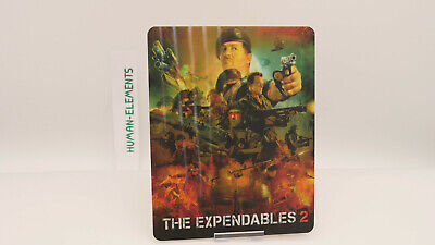 THE EXPENDABLES 2 - Lenticular 3D Flip Magnet Cover FOR bluray steelbook