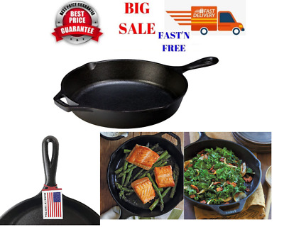 """Lodge Cast Iron Skillet Pre-Seasoned and Ready for Stove Top or Oven Use 10.25"""""""