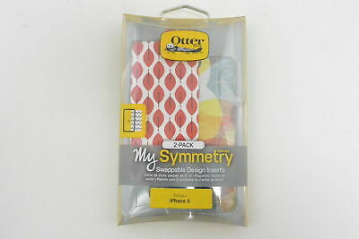 OtterBox My Symmetry Series Fall Grid/Fan Red Swappable Inserts For iPhone 6/6s
