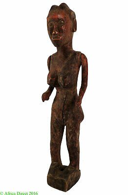 Tabwa Marionette Female Moving Arms Congo African 25 Inch