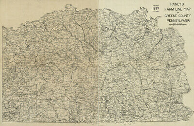 1897 Farm Line Map of Greene County PA