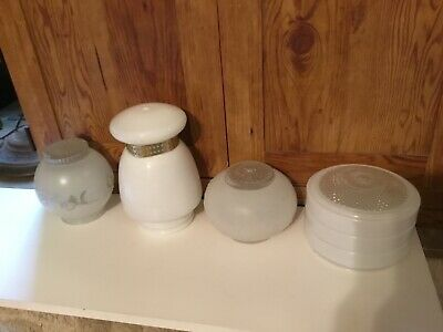 Vintage Ceiling Light Shade Glass Globe Kitchen Bath Frosted clear various