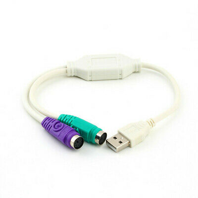 New USB Type A Male to PS2 PS/2 Female Cable Adapter Converter Keyboard/Mouse