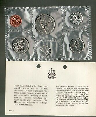 1968 Uncirculated Coin Proof Like Set ~ Canadian Coins set