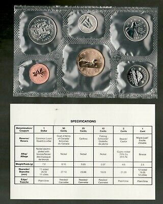 1996 Uncirculated Coin Proof Like Set ~ Canadian Coins PL specimen set
