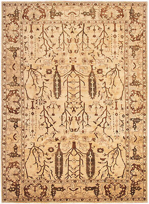 """Hand-knotted Afghan Carpet 9'7"""" x 13'3"""" Chobi Finest Traditional Wool Rug"""