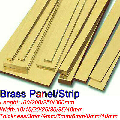100-300mm long Brass Strip Row plate 3mm/4mm/5mm/6mm/8mm/10mm thick panel
