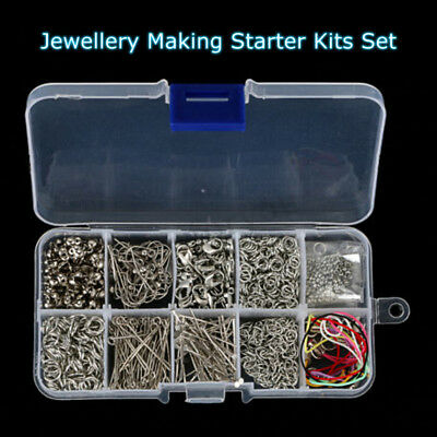 610PcsJewelry Making Too Kit Handmade DIY Accessorie Head Chain Bead Box Alloy