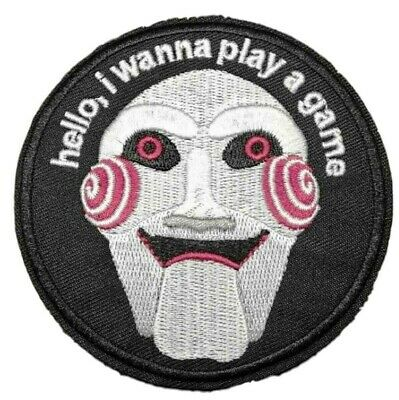 Saw Horror Movie Jigsaw 3.5 Inches in Diameter Embroidered Patch