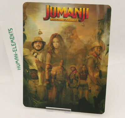 JUMANJI welcome to the jungle - Lenticular 3D Flip Magnet Cover FOR steelbook