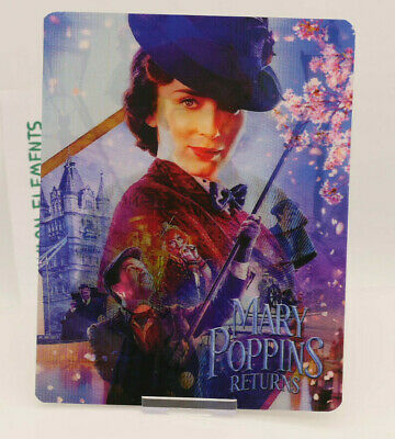 MARY POPPINS RETURNS - Lenticular 3D Flip Magnet Cover FOR bluray steelbook