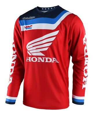 Maglia Jersey Cross Enduro Tld Troy Lee Gp Air Prisma Honda Red Rosso Blu Tg M