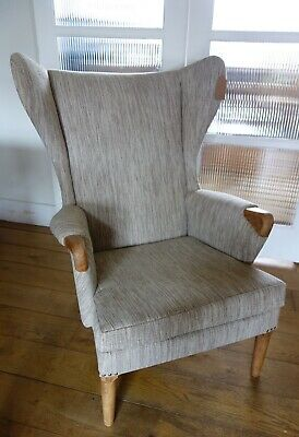 Marvelous Refurbished Vintage Retro Wing Back Rocking Chair Statement Gamerscity Chair Design For Home Gamerscityorg