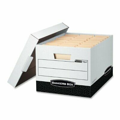 """Bankers Box R-kive - Letter/legal, White/black - Stackable - Heavy Duty - 10.4"""""""