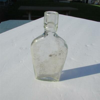 """Very Old St. Joseph's Clear Flask Bottle, Apothecary, """"The Name Assures Purity"""""""
