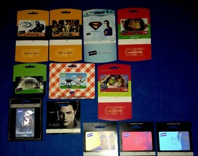 Blockbuster Gift Card Lot Of (12) (No Value On Cards)Collectable Oop Cards