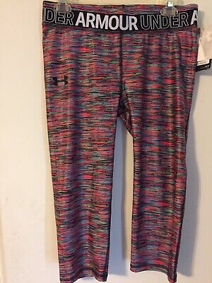 Nwt New Under Armour Girls Youth Leggjngs Pants Capris Sz Xl